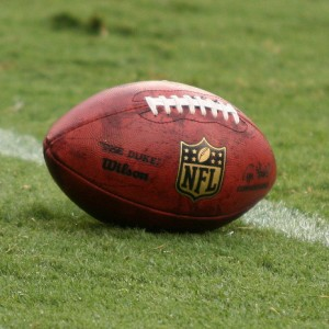 Nfl football on the field